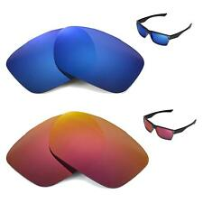 New Walleva Polarized Fire Red+Ice Blue Replacement Lenses For Oakley TwoFace