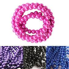 Imitation Pearl Glass Beads Round DIY Necklaces Bracelet Jewelry Accessories