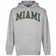 Miami Hurricanes Bold Arch Hoodie - Ash - College