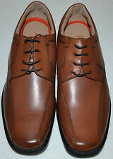 MENS M&S AIRFLEX LEATHER TOTAL COMFORT SHOES SIZE 9 WIDE FIT BROWN TAN BNWOT