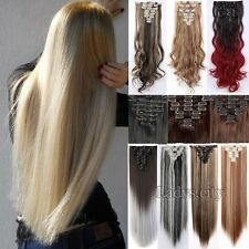 UK Seller Premium Full Head Clip In Hair Extensions Real Thick As Human Remy Mtc