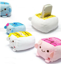 Cute Cartoon Tofu Plush Protect Block Seat Stand Mobile Cell Phone Holder New