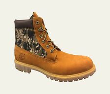 """Timberland A1161 Mens 6"""" Inch Wheat Camo Panel Boots Double Sole Camouflage"""