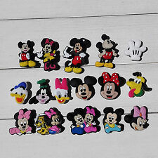 64pcs Mickey Minnie PVC Shoe Charms For wristband Shoe with hole Kids Party Gift