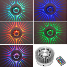 3W High Power LED Wall Light Sconce RGB Lighting Home Decor Fixture + IR Remote