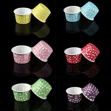20 Pcs Mini Paper Cake Cup Liners Baking Cupcake Cases Muffin Cake Colorful OU