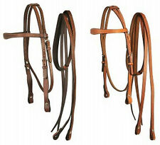 BOBBY'S WESTERN HORSE TACK BRIDLE HEADSTALL W/ MATCHING REINS HORSE & LARGE PONY