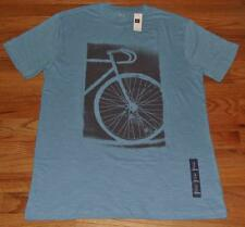 NWT Mens GAP Graphic Tee T-Shirt Bicycle Bike Racing Riding Blue *4F