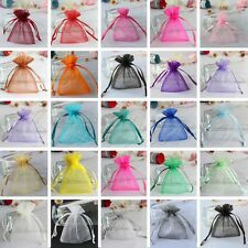 100 Wedding Favor Gift Candy Bags 7x9cm Strong Sheer Organza Pouch Jewellery Bag