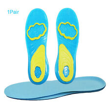 1 Pair Women Men Sports Support Cushioning Silicone Insoles Pain Relief Shoe Pad