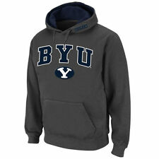 BYU Cougars Stadium Athletic Arch & Logo Pullover Hoodie - Charcoal - College