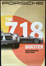PORSCHE PCNA OFFICIAL 718 RS 60 SPYDER WITH 718 BOXSTER S SHOWROOM POSTER 2016