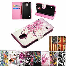 Stand Flip Card Wallet Leather Cover Case For Samsung S5 S4 S3 Mini Ace 3 Note 2