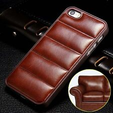 Vintage Luxury Soft Leather Hard Plastic Back Cover Case For iPhone 6 6S Plus