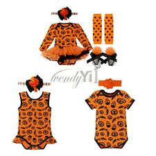 2PC Baby Kid Boy Girl Headband+Romper Jumpsuit Tutu Dress Outfit Clothes Costume
