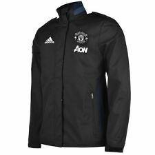 adidas Mens Manchester United Travel Jacket Football High Neck Full Zip Top