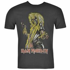 Amplified Clothing Mens Iron Maiden T Shirt Casual Short Sleeve Crew Neck Tee