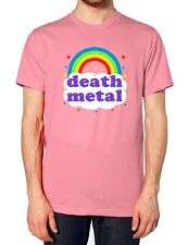 Death Metal Rainbow T Shirt Tee Top Rock Festival Parody Men Women Kids Happy