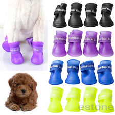 Dog Candy Colors Boots Waterproof Protective Rubber Pet Rain Shoes Booties New