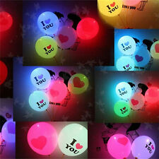 50Pack LED Hellium Air Mixed Colors Balloons Wedding Decoration Party Light Up