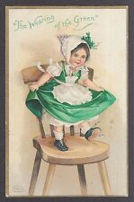 Wearing of the Green embossed St Patrick's Day postcard 1910s