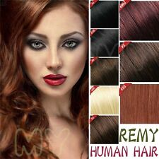 US SELLER BEST Remy 100% Human Hair Extensions Clip In Wholesale Straight HQ306