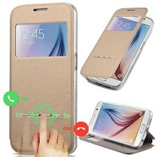 Smart Leather Case View Window Flip Cover For Samsung Galaxy S6/S7 Edge Plus