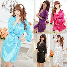 Women Sexy Lace Nightdress Sleepwear Lingerie Bathrobes Gown Kimono Robe Hot New