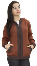 Hooded Hood Alpaca Wool Jacket Sweater Coat - Special Border Design