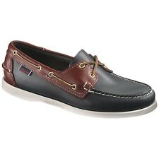 Mens Sebago Navy/Red Leather Spinnaker Boat Deck Shoes B72816 Size 7-13 (E, W)