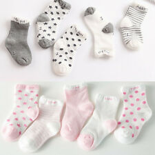 5 Pairs Baby Boy Girl Cartoon Cotton Socks NewBorn Toddler Kids Non-slip Sock