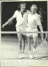 1973 Press Photo John Newcombe And Rod Laver After They Won In Doubles Match