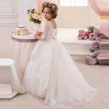 Flower Girl Dress Wedding Birthday Prom Pageant Party puffed tulle birthday gift