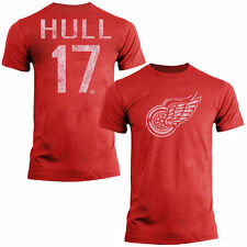 Brett Hull Detroit Red Wings Old Time Hockey Name & Number T-Shirt - Red - NHL
