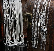 "Wholesale Silver Plated Necklace Chains 1MM/2MM Rolo Chain 16"",18"",20"",22"",24"""