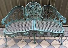 Vintage Large CAST / WROUGHT IRON Love Garden Bench Seat