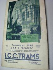 London 1933 LCC Trams tramways original map and route booklt good condition