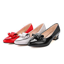 Cute Womens Flat Heels Shoes Shallow Mouth Pointed Bowknot Pumps US Size BD6873