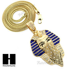 """Egyptian Masked King-tut Goon Pendant or w/ 4mm 36"""" Franco Chain Necklace FS015"""