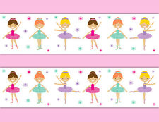 Ballerina Wallpaper Border Wall Art Decal Baby Girls Room Ballet Stickers Decor