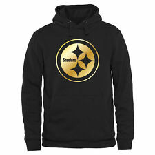 Men's Pittsburgh Steelers Pro Line Black Gold Collection Pullover Hoodie - NFL