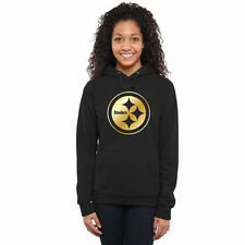 Women's Pittsburgh Steelers Pro Line Black Gold Collection Pullover Hoodie - NFL