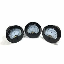 2pcs DC5 ~ 1000A + Shunt 10 Values New Round Analog AMP Panel Meter
