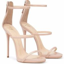 GUISEPPE ZANOTTI PINK NUDE PATENT LEATHER US 5-11 HIGH HEELS SANDALS RUNWAY NEW