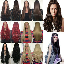 Ladies Long Blonde Wig Red Black Brown Wigs Many Choice of Style and Colour sm50