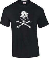 Distressed Skull and Crossbones T-Shirt