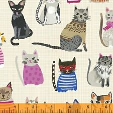 Windham Hot Dogs & Cool Cats Quilt Fabric Fat Quarter