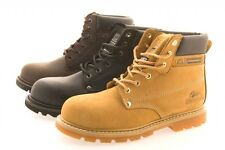 MENS GROUNDWORK SAFETY STEEL TOE CAP BOOTS WORK TRAINERS HIKING SHOES UK 7-12