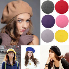 New Woman Sweet Warm Winter Wool Beret French Artist Beanie Cap Ski Hat Fashion