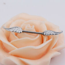 New Sexy Angel Wings Feather Body Nipple Bar Barbell Piercing Ring 14G Jewelry W